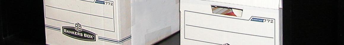 records prepared for storage